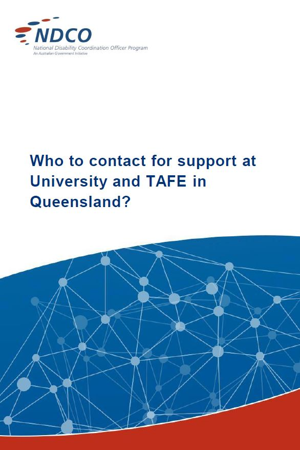Image Disability Contacts at Qld TAFE & University